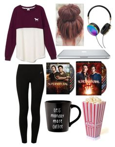 Lazy day outfit by jordan-beasley on Polyvore featuring polyvore, fashion, style, Victoria's Secret PINK, NIKE and Frends