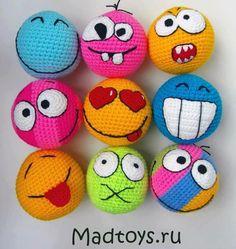 crochet emoticons balls - Google Search