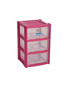 Wham Large 3 Drawer Storage Unit - Various Colours | Storage | ASDA direct  sc 1 st  Pinterest & Deep 3 Drawer Storage Unit Violet | Berni | Pinterest | Drawer ...
