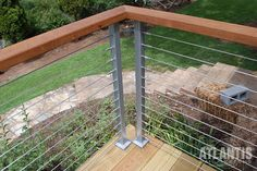 View our SunRail™ Nautilus - Stainless Steel Railing with Cable Infill Option presentation on SlideShare - Atlantis Rail Systems Deck Railing Design, Glass Railing, Deck Railings, Stainless Steel Railing, Stainless Steel Cable, Cable Railing Systems, Composite Decking, Atlantis, Curb Appeal