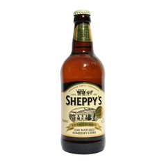SHEPPY'S VINTAGE RESERVE CIDER: A fine full-flavoured sparking vintage cider in a medium taste, created from the apples of a single harvest at Three Bridges Farm.