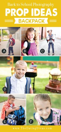 Back to School Photography Prop Ideas Backpacks