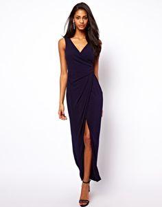 ASOS Wrap Front Maxi Dress