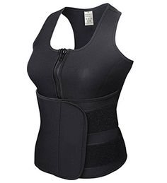 DODOING Neoprene Sauna Vest with Zipper Adjustable Tank Top Vest Waist Trimmer *** More info could be found at the image url.