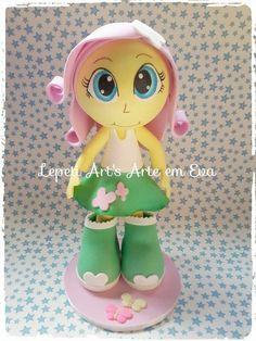 Fofucha em EVA para decoração de festa <br>Tema My Little Pony Equestria Girls