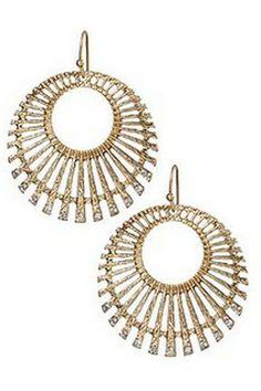 Gold Wheel Hoop Earrings