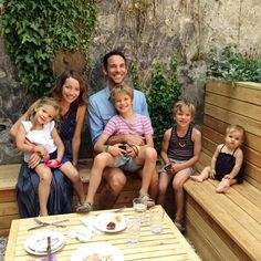 Courtney Adamo of Babyccino with her ridiculously adorable family. <3