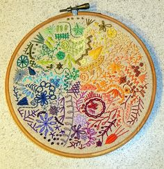 Colourful Embroidery - good way to use up all those left over threads