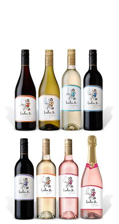 Lulu B Wines, apparently these are made for women only.....sweet and sweet, yuk!