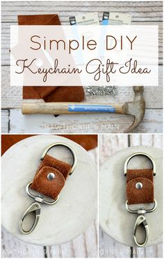 How amazing is this DIY Leather Key Chain?! The perfect gift for the men in your life!: