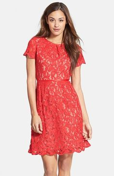 Laurens Wedding? Adrianna Papell Scalloped Lace Dress (Regular & Petite) available at #Nordstrom