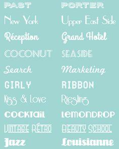 Pour un mariage sur le thème rétro ou vintage voici une sélection de 10 jolies police d'écriture rétro, pour personnaliser ses faire-part, invitations, menu