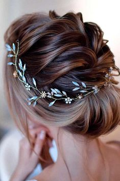 Elegant Updo With Accessory #accessoryhairtyles #lowbunhairstyles ★  Braided prom hair updos look really elegant and beautiful. We have picked the trendiest updo hairstyles for our photo gallery. Check them out. #glaminati #lifestyle #promhairupdos