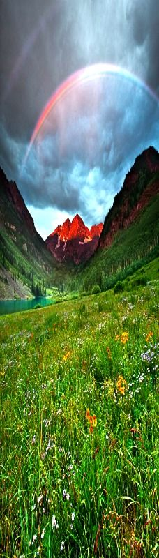 Stormy Sunrise - Maroon Bells - Colorado.