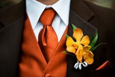 New Wedding Fall Groomsmen Burnt Orange Ideas Fall Wedding Groomsmen, Groom And Groomsmen, Wedding Suits, Wedding Attire, Trendy Wedding, Dream Wedding, Fall Wedding Tuxedos, Wedding Vest, October Wedding