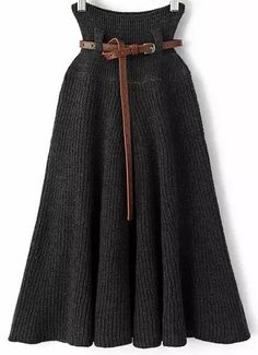 Shop Grey Pleated Knit Belt Skirt online. Sheinside offers Grey Pleated Knit Belt Skirt & more to fit your fashionable needs. Free Shipping Worldwide!