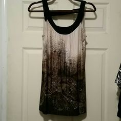 Chic fade patterned sleeveless top Fashionable spandex blend sleeveless top Tops