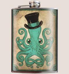 Trixie & Milo Gentleman Octopus Flask