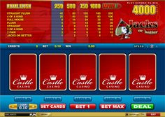 If you're on the hunt for some excellent video poker action then you have come to the right place. As well as 4 other fantastic video poker games Castle Casino offers players the enthralling Jacks or Better, one of the best options available on the internet if we do say so ourselves! This is available as the standard game or with 4 hand and 25 hand options, ensuring you can play whatever your preference.