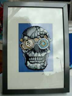 Steampunk Skull Cog-Eye by Sea On Glass