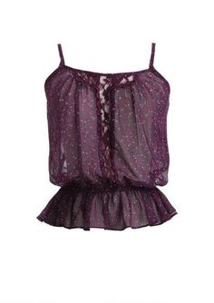 Lace Inset Floral Cami - fr