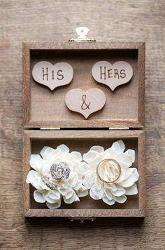 Ring Bearer Box Shabby Chic Rustic Wedding by CountryBarnBabe