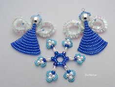 The last set of 3 Christmas decorations angels + snowflakes by EvAtelier1 https://www.etsy.com/listing/247433897/christmas-decorations-angel-snowflake?ref=shop_home_active_1