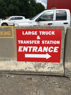 Traffic #signs keep trucks out of the parking lot and things flowing smoothly. #MrSign #Pittsburgh
