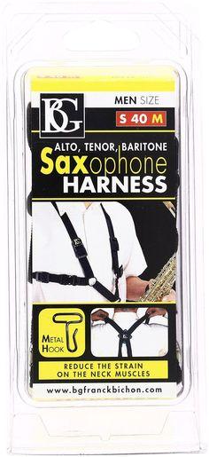 BG S40M Men's Harness Strap for Alto/Tenor/Baritone Sax with Metal Hook BRAND NEW