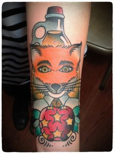 What!? Fantastic Mr Fox tattoo!! Tattooed by Ashley Love. Awesome <3 wes anderson movies