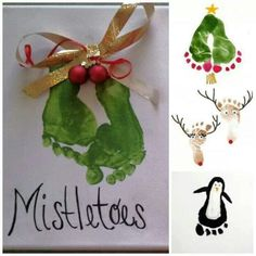 Cute footprint ideas for Christmas!