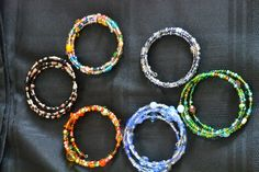 Memory wire wrap bracelets. Fun!  Depending on color and style they can jazz up and outfit or complete a casual ensemble.
