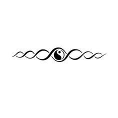 Yin Yang and Tribal Armband Tattoo Design - nice with cat yin yang in circle