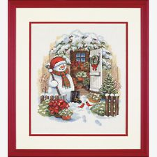NEW   Dimensions D08817 Garden Shed Snowman Christmas Counted Cross Stitch Kit