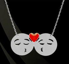 Couple Emo Emoji Necklace - GirlyTwirly.com