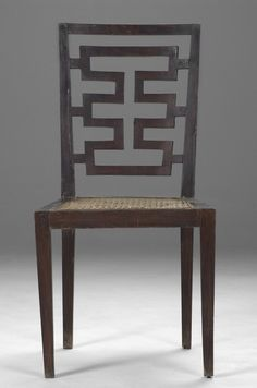 Neoclassical Chair Producer: Italian Year: U002720s Walnut, Cane Seat.  Attributed To