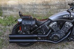 2018 Indian Scout Bobber, un-bobbed with the passenger seat and saddlebags.
