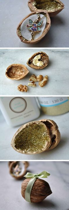"""Make your gift """"nutty!"""" How clever is this walnut DIY gift box?"""