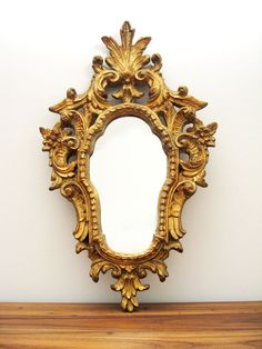 Early Mid-Century Ornate Florentine Mirror