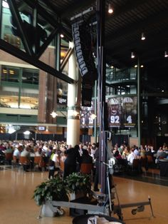 A Meyer Line Array system performed well in the acoustically live Lambeau Field Atrium. #madeyalook