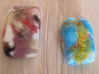 Soap in a sweater! Felted soap/washcloth in one! Great Waldorf-inspired craft!