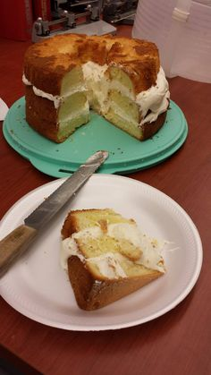 mine wasn't near as pretty, AND I forgot the powered sugar which would have covered some of the flaws!!  but it was tasty!! http://www.yourhomebasedmom.com/lemon-cream-cake/