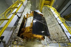 The European Space Agency took one last look at its new Sentinel-5P Earth observation satellite yesterday before it was sealed inside the rocket fairing, a protective cone that will shield it from heat and pressure as it launches into space. Sentinel-5P is slated to blast off from Russia's Plesetsk Cosmodrome next Friday (Oct. 13) on a Eurockot Rockot launch vehicle. Using an instrument called Tropomi, it will study air pollution and monitor the ozone layer.