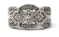 Sparkling white gold ladies band with diamonds. Gold Diamond Rings, Natural Diamonds, White Gold, Sparkle, Wedding Rings, Engagement Rings, Band, Floral, Fashion Design