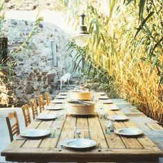 Outside Dinner Party Set Up
