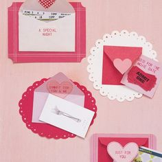 These Embellished Envelope Cards don't just hold the cards -- they are the cards. Glue the back of a miniature envelope to a piece of decorative card stock, and tuck a gift inside (tickets to a movie or a concert or a gift card to a favorite haunt).