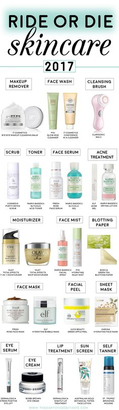 Best skin and facial products for oily combination skin   Best skincare products for acne prone skin   Ride or Die Skincare   Best anti-aging skin products   Ride or Die Beauty: Best Skincare Products of 2017 by fashion and beauty blogger Stephanie Ziajka from Diary of a Debutante