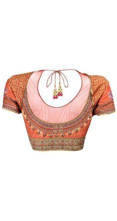 Gorgeous Tarun Tahiliani Open Back Choli Blouse, for Saree or Lehenga / Ghagra Indian Blouse, Sari Blouse, Indian Sarees, Choli Designs, Saree Blouse Designs, Blouse Patterns, Indian Dresses, Indian Outfits, Satin Duchesse