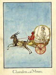 THE MOON चन्द्र एक चन्द्र देवता हैं। चंद्र (चांद) को सोम के रूप में भी जाना जाता है और उन्हें वैदिक चंद्र देवता सोम के साथ पहचाना जाता है।  उन्हें जवान, सुंदर, गौर, द्विबाहु के रूप में वर्णित किया गया है  और उनके हाथों में एक मुगदर और एक कमल रहता है।