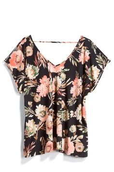 To my Stitch Fix stylist: I love the colors and print of this blouse, but not the cut and style.I prefer fitted styles, longer sleeves and less cleavage. Photo from Stitch Fix quiz March 2018.